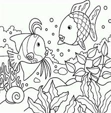 Small Picture Printable 34 Cute Fish Coloring Pages 8693 Sea Animals Rainbow