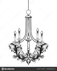 Barocke Kronleuchter Vektor Französischer Luxus Reich