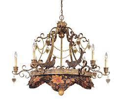 6 light oval chandelier