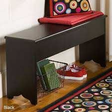 "Large Shaker <b>Storage Bench Black Large</b> 41.5""L - Buy Online in ..."