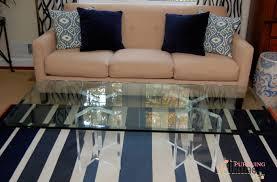Acrylic Glass Coffee Table Acrylic Coffee Table Ebay Designer Brand Industrial Style