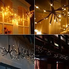 outdoor fairy lighting. Flexible LED Branches String Lights 100 Led Bulbs Waterproof Outdoor Fairy Artificial Tree Branch Pendant Lighting 7