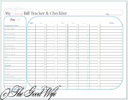 Free Printable Bill Payment Schedule Monthly Payment Template Automotoread Info