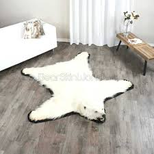 foot polar bear rug skin faux with head 0 p