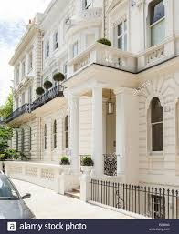 A White Stucco House In Notting Hill London Stock Photo Royalty .