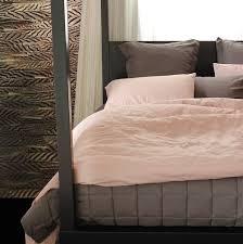 linen duvet cover white vintage pink