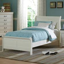 Design your bedroom with this Alfie white twin bed. With this simple and  elegant collection
