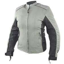 whole leather motorcycle distributor xelement women s meridian siver gray tri tex mesh armored motorcycle jacket myleather com