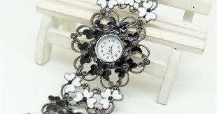 Buy <b>SB008 Fashion</b> Women Skeleton <b>Flower</b> Bracelet Quartz Watch ...