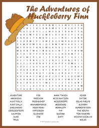 the adventures of huckleberry finn by mark twain close up of huckleberry finn word search puzzle use this entertaining word search puzzle to review character and plot themes of mark twain s novel the adventures of