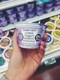 49 healthy things to at trader joe s 21 vanilla bean nonfat greek yogurt