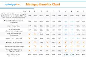 Medicare Supplement Chart Of Plans Medicare Supplement Insurance Plans Comparison Best Compare