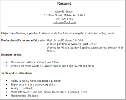 A Job Resume Sample Best First Job Resume Examples Resume Badak