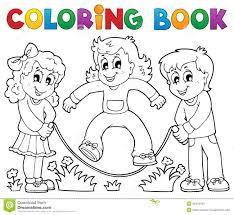 Th Me 1 De Jeu D Enfants De Livre De Coloriage Illustration De