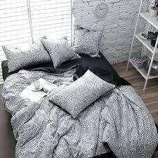 black and white animal print bedding modern black and white leopard print 4 piece cotton duvet