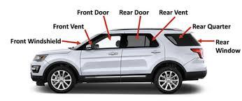 diagram of car glass part names