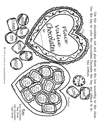 Valentine Math Place Values Activity Sheet