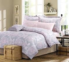 sakura bedding set add a feminine touch with the comforter set in pastel hues of pink