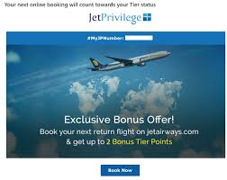Jet Airways Tier Points Chart 2017 Extra Tier Points From Jetprivilege And Jet Airways Live
