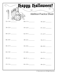 4th grade halloween worksheets halloween addition and subtraction ...