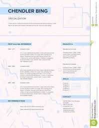 Cv Template Minimalist Resume Web Page Job Application Skills
