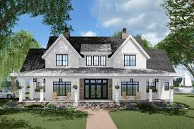 Modern Farmhouse Home Designs Plan 14680rk 3 Bed Modern Farmhouse Plan With French Door