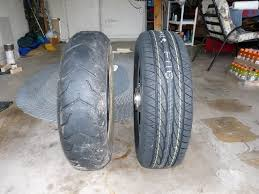 Harley Davidson Touring Converting To Car Tire On Rear