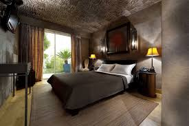 Masculine Bedroom Masculine Bedroom With Concrete Wall And Bamboo Area Rug Also