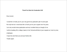 High School Graduation Thank You Cards Examples