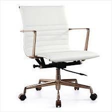 modern office chair leather. Gold Office Chair » The Best Option White Italian Leather M346 Modern Chairs