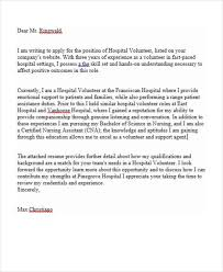 Volunteer Letter Samples Cover Letter Template Volunteer Position Application