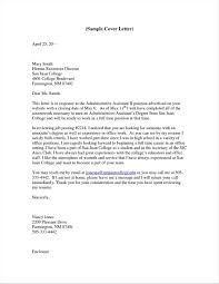 Executive Cover Letter Examples For Executive Assistant Positions