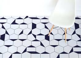 hexagon vinyl flooring uses the most popular print which is black