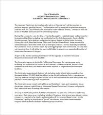 Electrical Contractor Resumes Electrical Work Proposal Template Templates Resume
