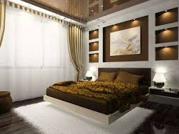 Interior Designs For Bedrooms Delectable Interior Of Comfortable Bedroom In Brown Color Photo On Magazine