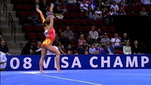 floor gymnastics shawn johnson. Shawn Johnson - Floor Exercise 2008 Visa Championships Day 1 YouTube Gymnastics