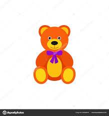Teddy Bear Design Teddy Bear Baby Toy Vector Kid Toys Bear Icon Isolated