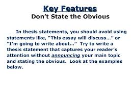 the thesis statement a road map for your essay  15 in thesis statements you should