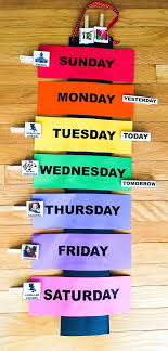 Days Of The Week Chart For Toddlers Teaching Your Toddler The Days Of The Week A Brighter