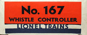 lionel trains 167 whistle controller accessory spacer no 167 early classic box end