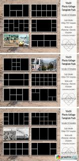 Picture Collage Templates Free Download 10x20 Photo Collage Template Pack Free Download Vector