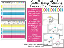 lesson plans sheet small group lesson plan template editable tpt