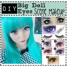 makeuptutorial17 diy big doll eyes scene makeup were you trying how