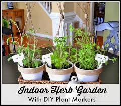 how to make an indoor herb garden. How To Grow Herbs Indoors And DIY Plant Markers - WorthingCourtBlog Make An Indoor Herb Garden N
