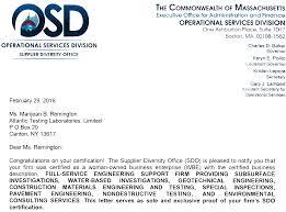 Atl Granted Wbe Certification In Massachusetts Atlantic Testing