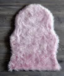 light pink faux fur rug