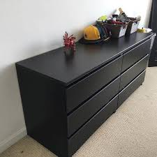 6 drawer dressers for sale. IKEA BLACK MALM DRAWER DRESSER For Sale In San Francisco CA OfferUp Throughout Drawer Dressers