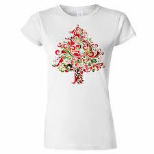 Cute T Shirt Design Ideas Funky Xmas Tree Design Womens T Shirt Christmas Art Santa Gift Present Snow Cool Casual Pride T Shirt Men Unisex New Fashion Cute T Shirts Nerd T