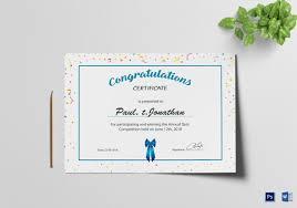 Congratulation Certificate 14 Congratulations Certificate Templates Free Sample Example