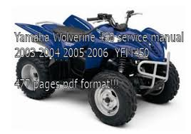 2005 yamaha kodiak 450 wiring diagram 2005 image yamaha wolverine 450 manual 2003 2004 2005 2006 yfm450 on 2005 yamaha kodiak 450 wiring